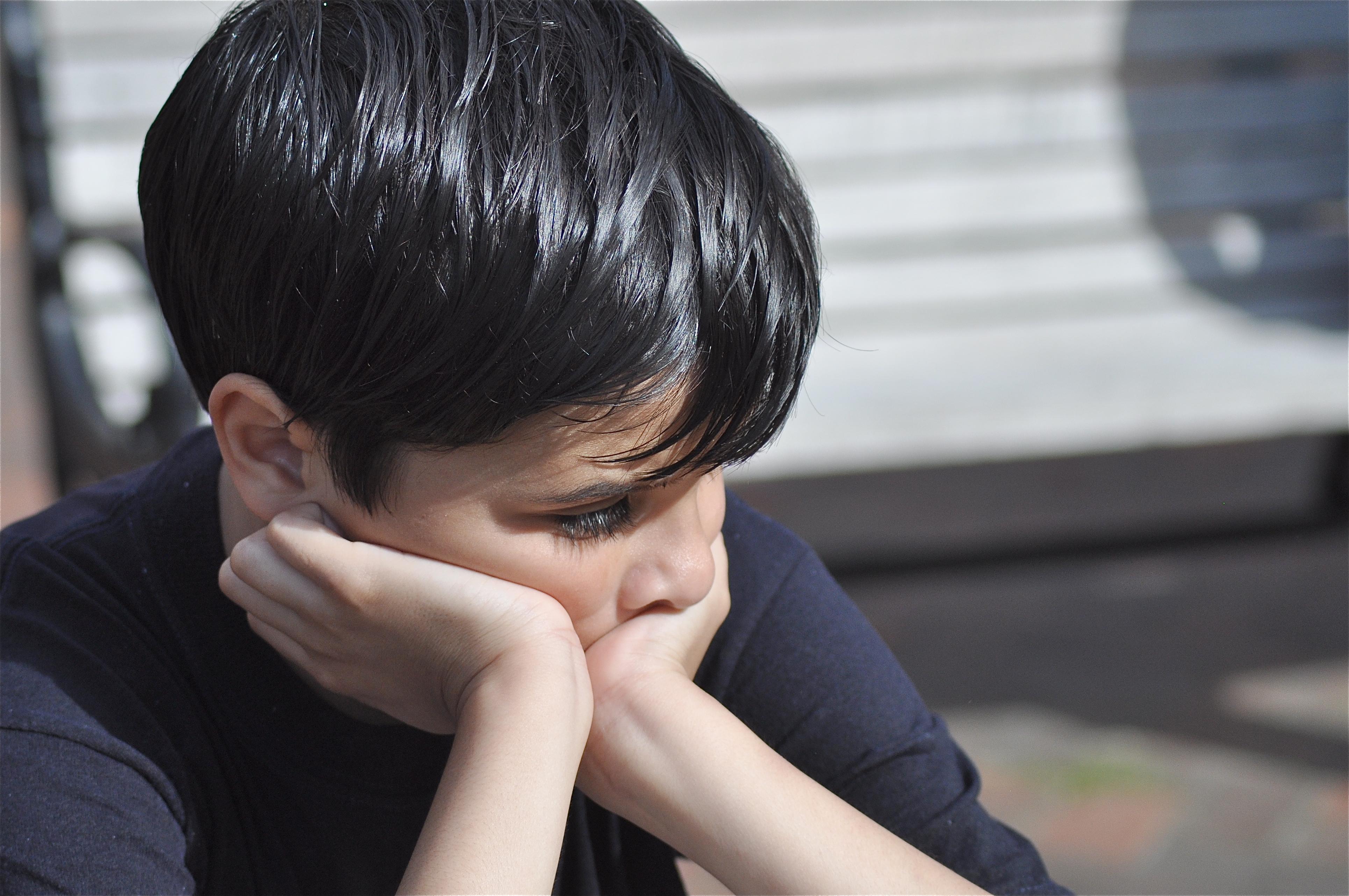 Childhood wounds sad boy